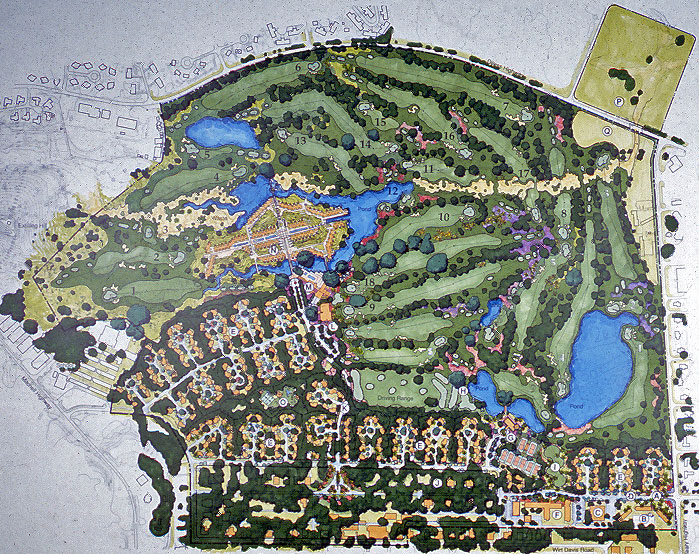 Conceptual Golf Course Routing